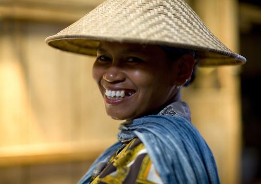 Woman on a market, Java island indonesia
