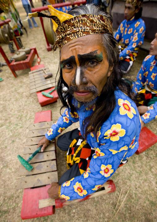 Musician in java island indonesia