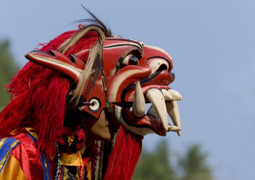 Monster mask at festival, Java island indonesia