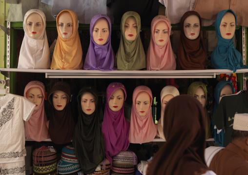 Hijabs on amarket, Java island indonesia