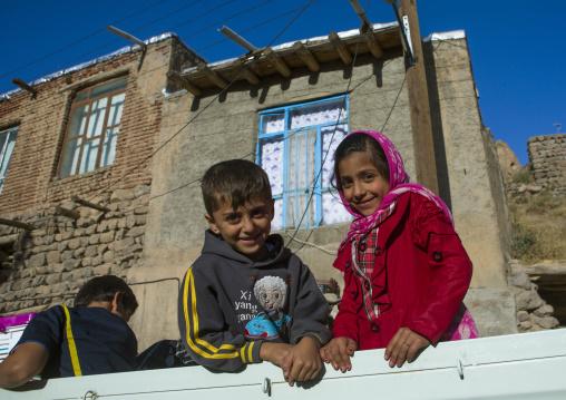 Children In A Car, Kandovan, Iran