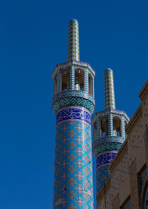 minarets of a mosque, Hormozgan, Bandar Abbas, Iran