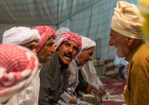 Men dancing during a wedding ceremony, Qeshm island, Tabl , Iran