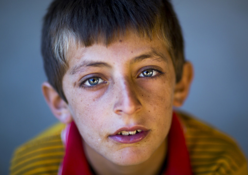 Kurdish boy with blue eyes, Palangan, Iran