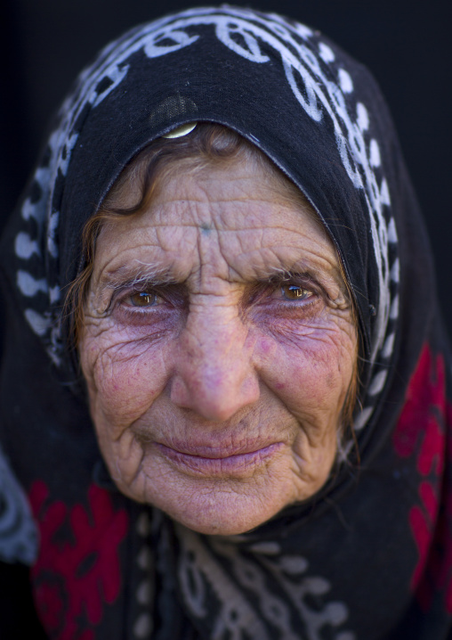 Old kurdish woman, Palangan, Iran