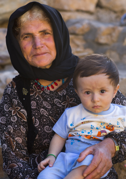 Kurdish mother and her baby, Palangan, Iran