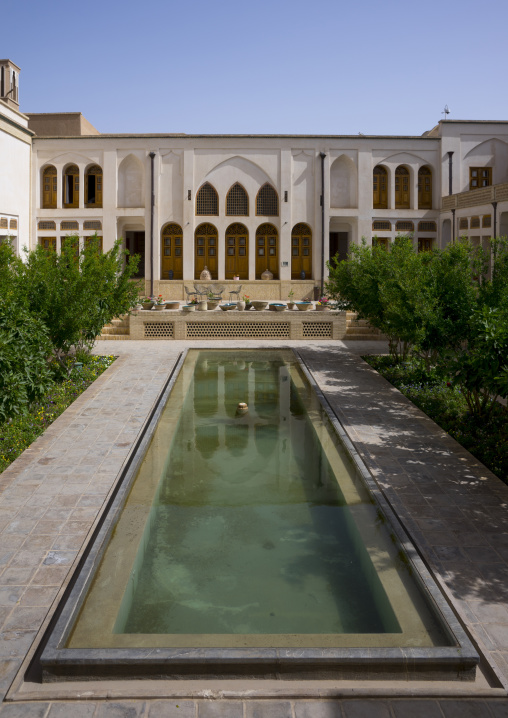 Manouchehri house and its huge basin, Isfahan province, Kashan, Iran
