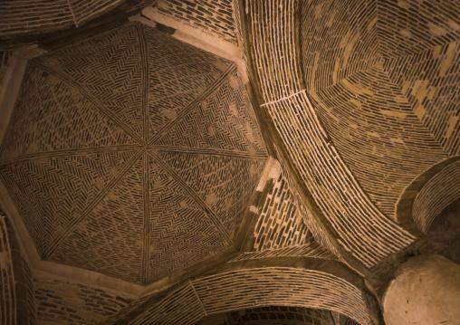 Nezam al molk dome inside the jameh masjid or friday mosque, Isfahan province, Isfahan, Iran