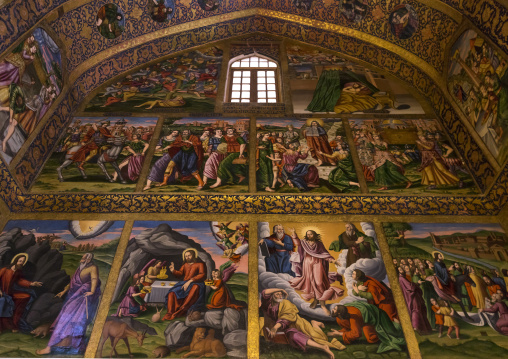 Artwork at the church of saint joseph of arimathea, Isfahan province, Isfahan, Iran