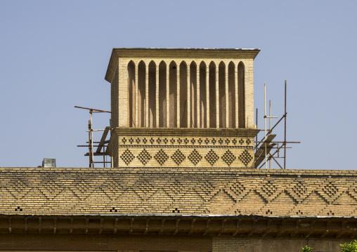 Windtower of traditional house, Fars province, Shiraz, Iran