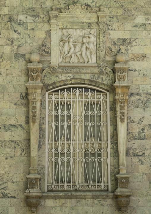 Window at the saadabad palace, Shemiranat county, Tehran, Iran