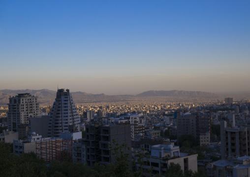 Panoramic view over the city, Shemiranat county, Tehran, Iran
