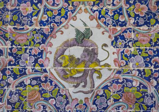 Decorated tile work at the golestan palace, Shemiranat county, Tehran, Iran