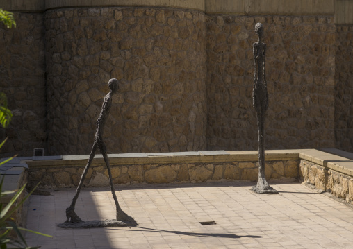 Sculptures by giacometti at the tehran museum of contemporary art, Shemiranat county, Tehran, Iran