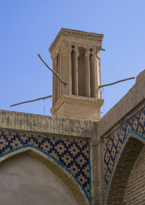 Windtower of traditional house, Isfahan province, Kashan, Iran