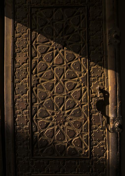Mir emad mosque old door, Isfahan province, Kashan, Iran