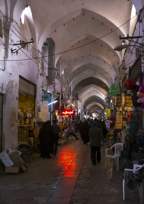 Alley in the bazaar, Isfahan province, Kashan, Iran