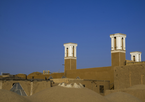 Windtowers of traditional house, Isfahan province, Kashan, Iran