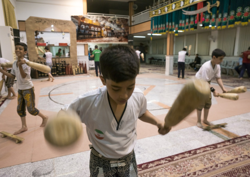 The traditional sport of zurkhaneh, Isfahan province, Kashan, Iran