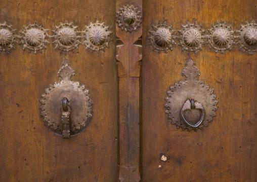 Doorknockers in sultan amir ahmad bathhouse, Isfahan province, Kashan, Iran