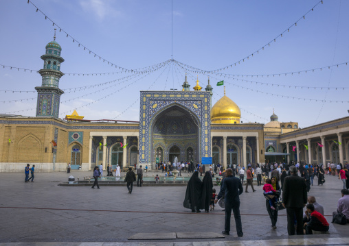 Pilgrims at the shrine of fatima al-masumeh, Qom province, Qom, Iran