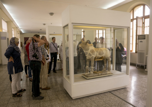 Western tourists in the national museum, Shemiranat county, Tehran, Iran
