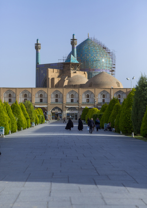 The shah mosque on naghsh-i jahan square, Isfahan province, Isfahan, Iran