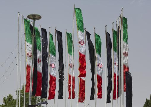 Iranian flags, Isfahan province, Isfahan, Iran