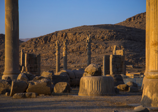 Throne room or room of a hundred columns in Persepolis, Fars Province, Marvdasht, Iran