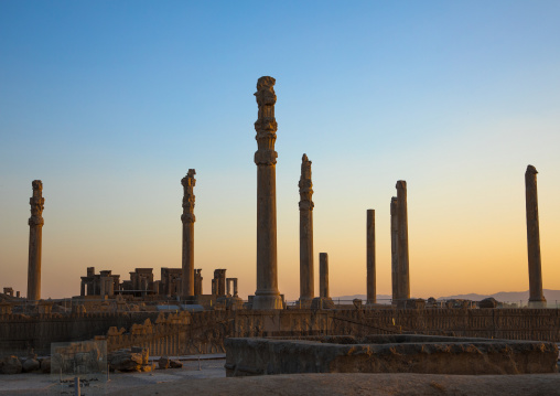 Ruins of the apadana in persepolis, Fars province, Marvdasht, Iran