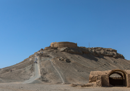 Tower of silence where zoroastrians brought their deads and vultures would consume the corpses, Yazd province, Yazd, Iran