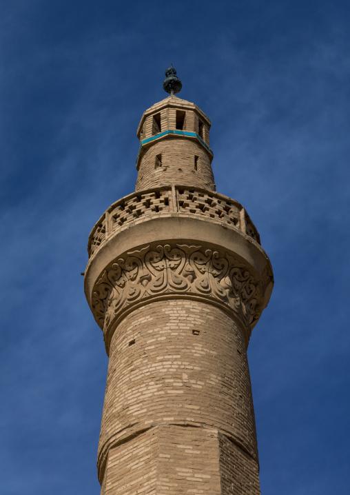 Jameh mosque minaret, Isfahan province, Nain, Iran