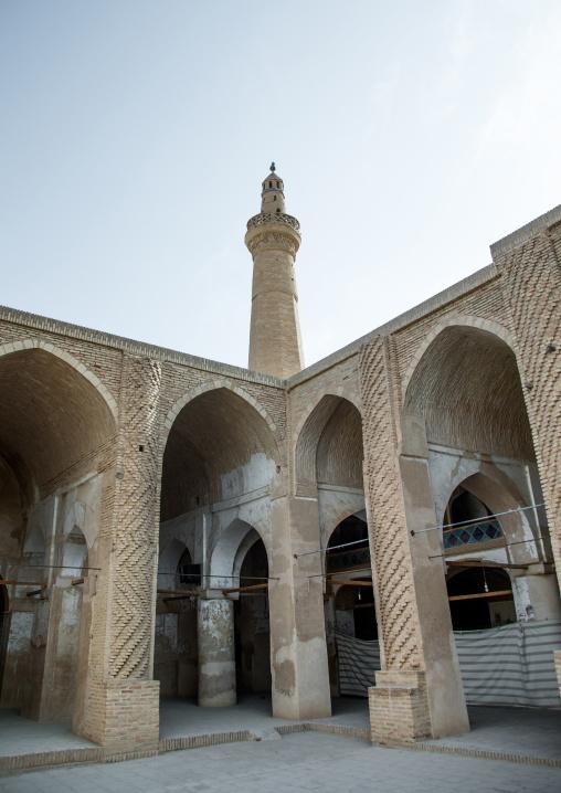 Jameh mosque courtyard, Isfahan province, Nain, Iran