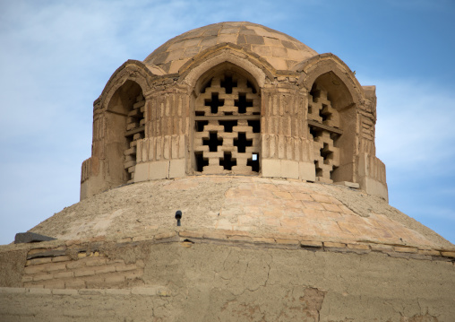 Wind towers used as a natural cooling system in iranian traditional architecture, Isfahan Province, Nain, Iran