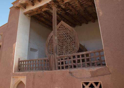 Nakhl on a wooden balcony, Natanz County, Abyaneh, Iran