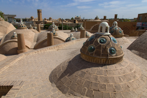Sultan Amir Ahmad bathhouse roof and terrace, Isfahan Province, Kashan, Iran