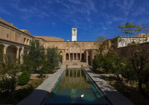Boroujerdi historical house and its wind tower, Isfahan Province, Kashan, Iran