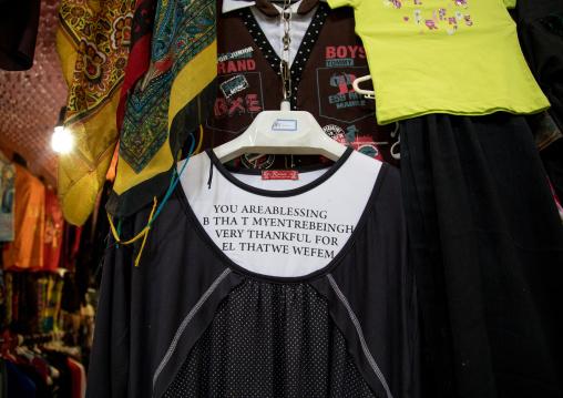 Shirt with a sentence in bad english made in China, Isfahan Province, Kashan, Iran