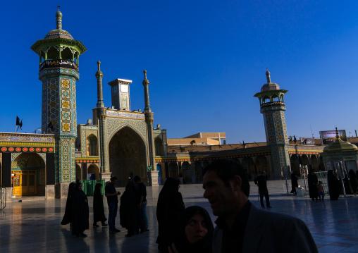 Pilgrims in Fatima al-Masumeh shrine, Central County, Qom, Iran