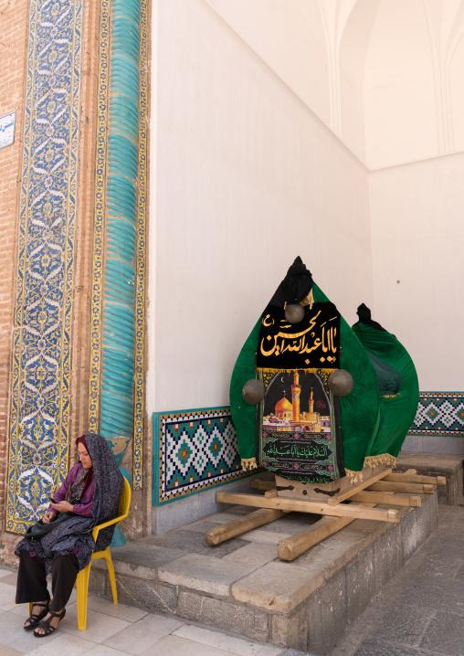 Nakhl in the Shrine of sultan Ali during Muharram, Kashan County, Mashhad-e Ardahal, Iran