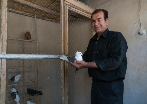 A man who raise pigeons, Lorestan Province, Khorramabad, Iran