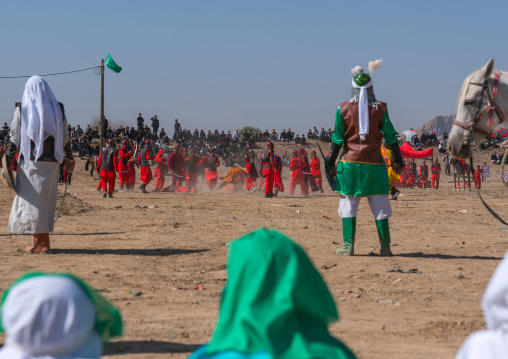 Traditional religious theatre called tazieh about Imam Hussein death in Kerbala, Lorestan Province, Khorramabad, Iran