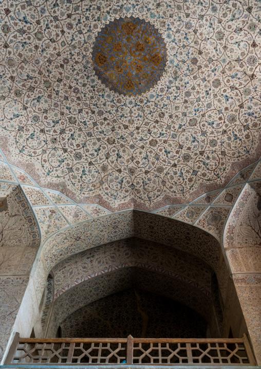 Chehel Sotoun Forty Columns Palace ceiling, Isfahan Province, Isfahan, Iran