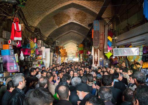 iranian shiite muslim men celebrating ashura in the bazaar, Central district, Tehran, Iran