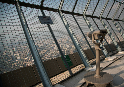 Open observation deck in milad tower, Central district, Tehran, Iran