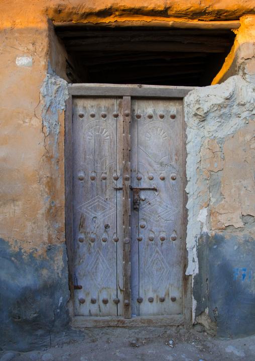 Old wooden door, Qeshm island, Laft, Iran