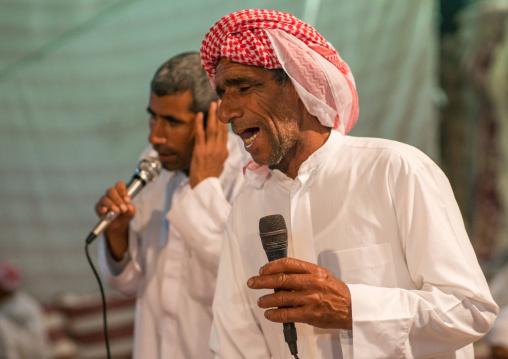 men singing during a wedding ceremony, Qeshm Island, Tabl , Iran