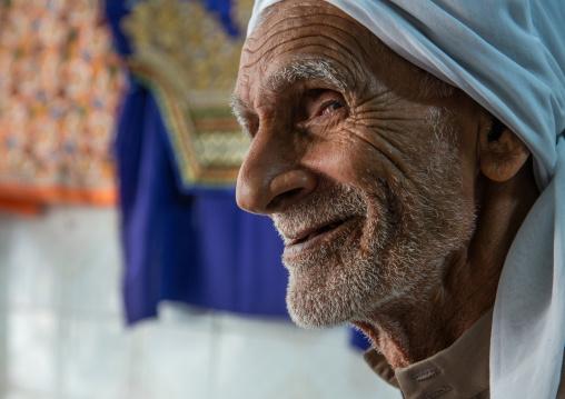 smiling old iranian man, Qeshm Island, Salakh, Iran