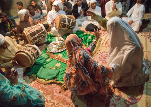 women in trance during a zar ceremony, Qeshm Island, Salakh, Iran