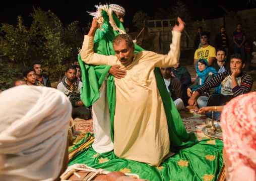 man in trance during a zar ceremony, Qeshm Island, Salakh, Iran